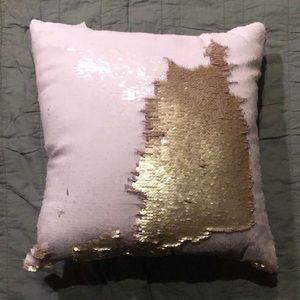 Pink and Matte Gold Sequin Pillows NWT